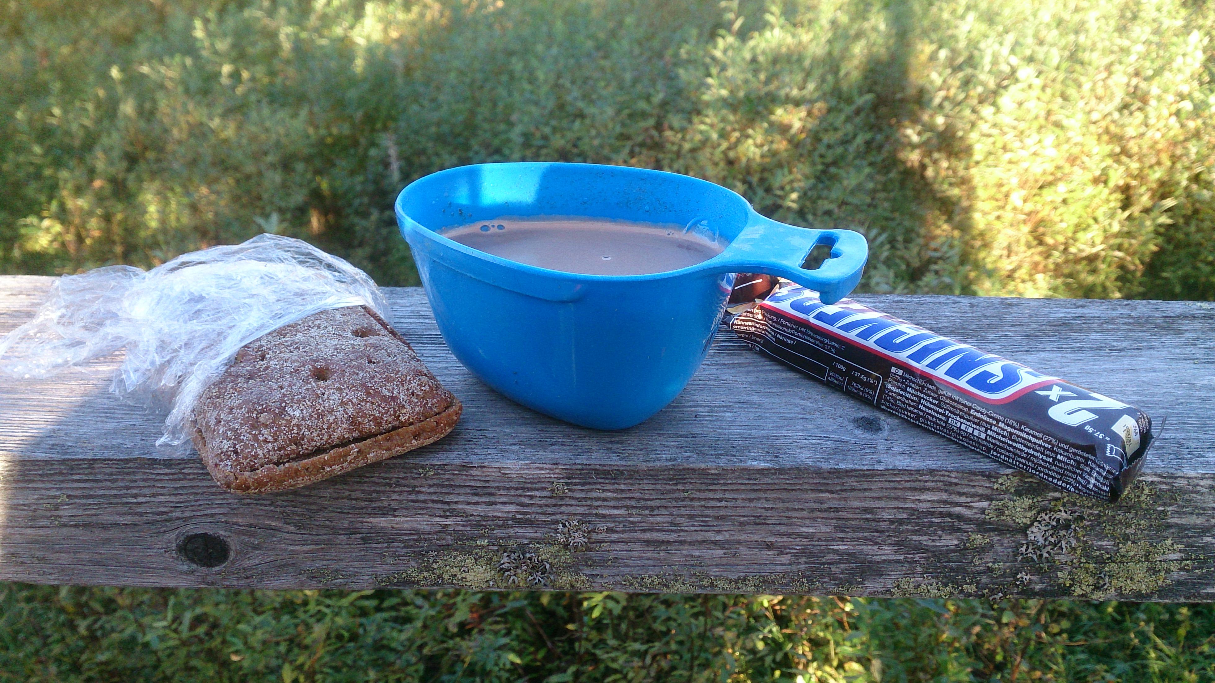 Frukost smakar alltid godast ute.